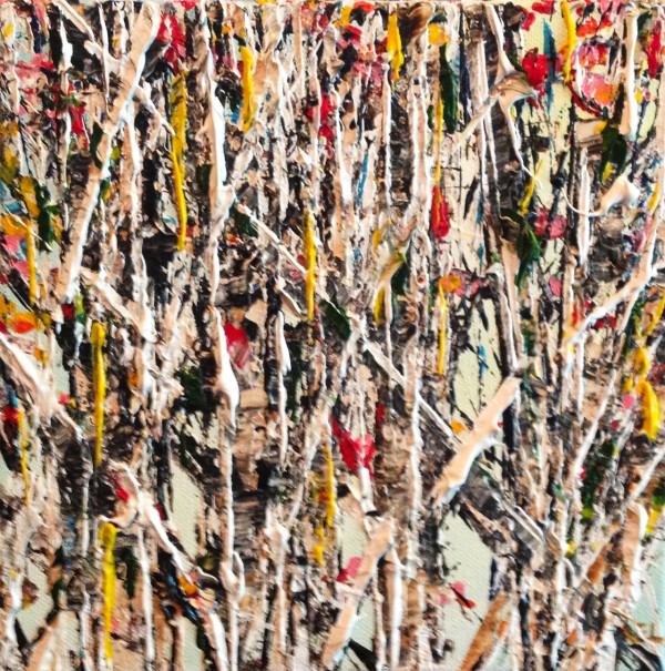 Turning Birches 8x8