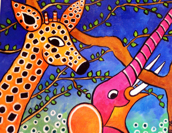 Elephant & Giraffe Print