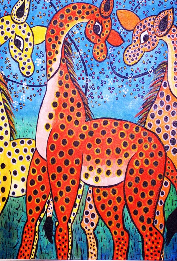 Three Giraffes Giclee Print