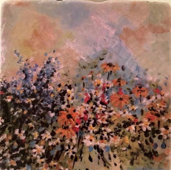 Tile # 12 Les fleurs 4x4