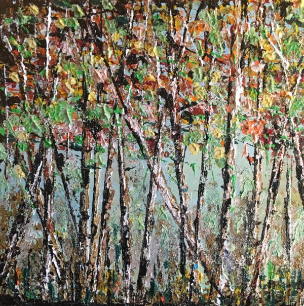 #22 Autumn birches 4x4