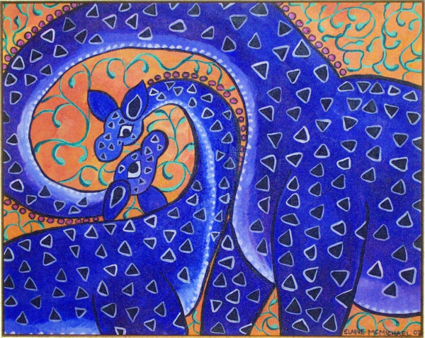 Two Blue Giraffes-1
